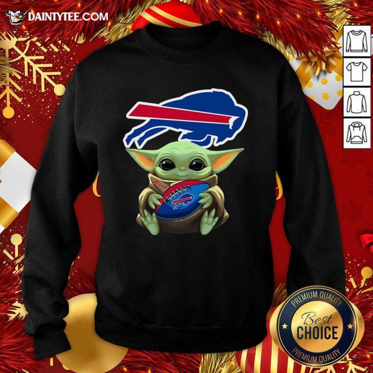 Baby Yoda Hug Buffalo Bills Football Sweatshirt- Design By Daintytee.com