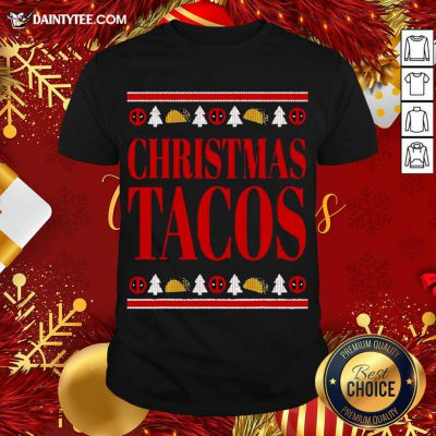 Marvel Deadpool Wade Wilson Christmas Tacos Holiday Shirt- Design By Daintytee.com