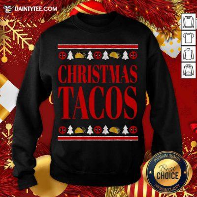 Marvel Deadpool Wade Wilson Christmas Tacos Holiday Sweatshirt- Design By Daintytee.com