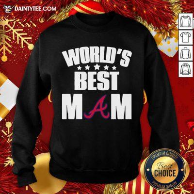 World's Best Atlanta Braves Mom Sweatshirt- Design By Daintytee.com