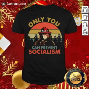 Bear Only You Can Prevent Socialism Vintage Shirt- Design By Daintytee.com