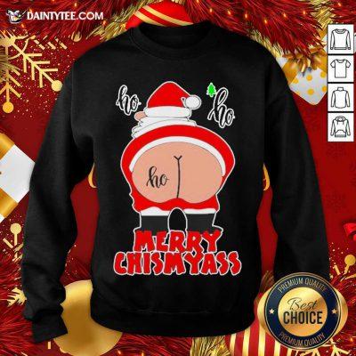 Santa Claus Ho Ho Merry Christmas Sweatshirt- Design By Daintytee.com