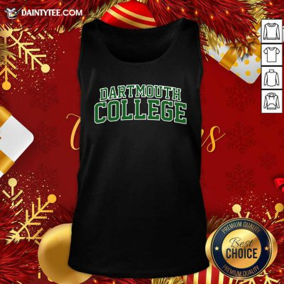 Dartmouth College Green Text Tank Top- Design By Daintytee.com