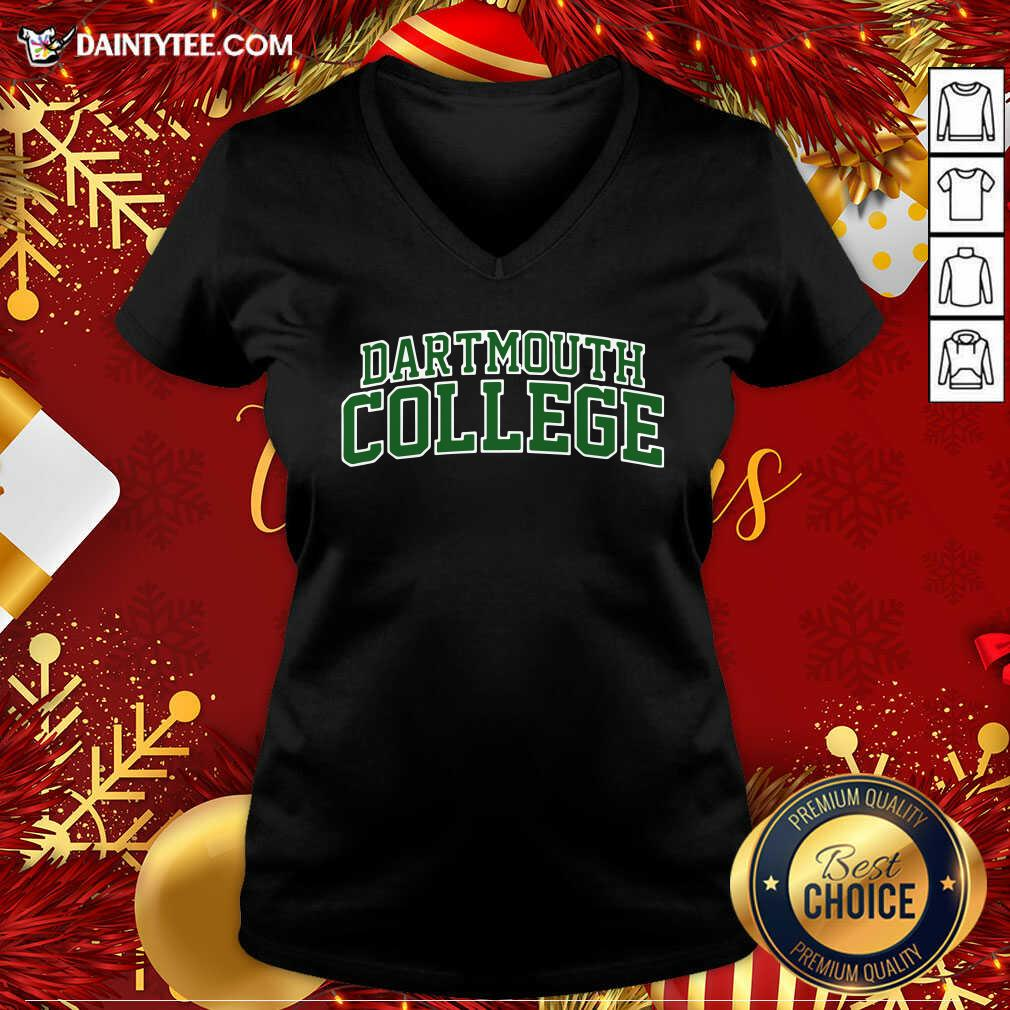 Dartmouth College Green Text V-neck- Design By Daintytee.com