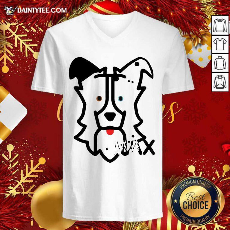 Dog Max V-neck- Design By Daintytee.com