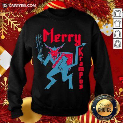 Merry Krampus Christmas Sweatshirt- Design By Daintytee.com