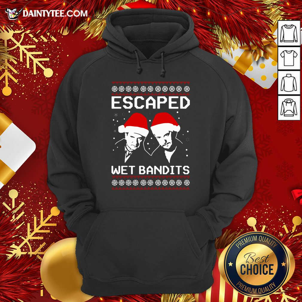 Home Alone Escaped Wet Bandits Ugly Christmas Hoodie- Design By Daintytee.com