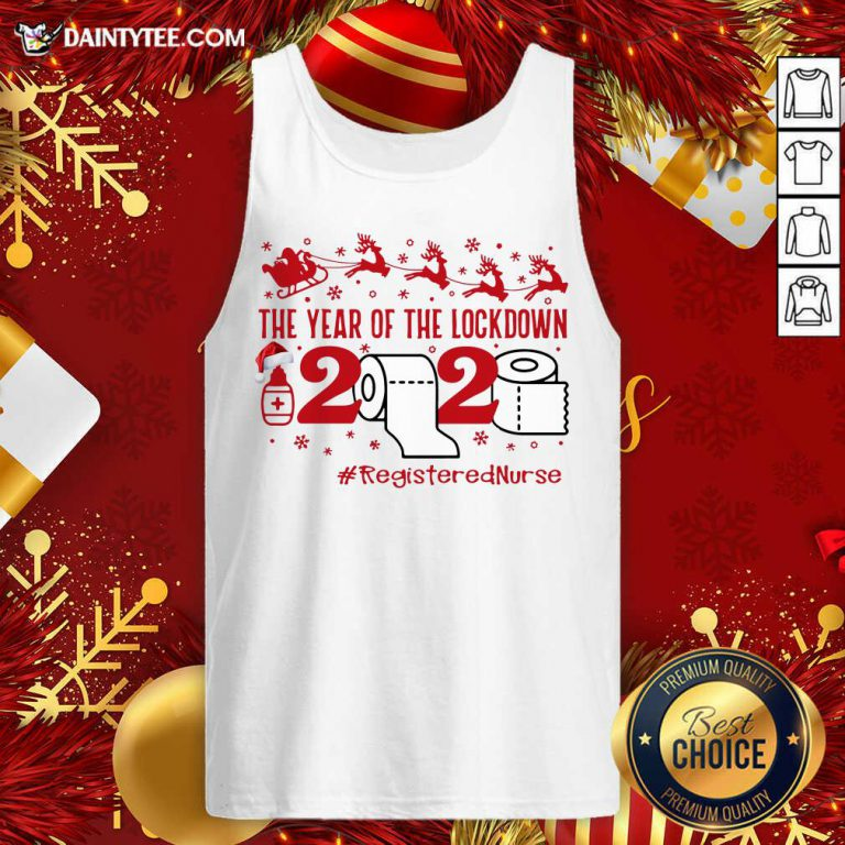 The Year Of The Lockdown 2020 #RegisteredNurse Ugly Christmas Tank Top- Design By Daintytee.com