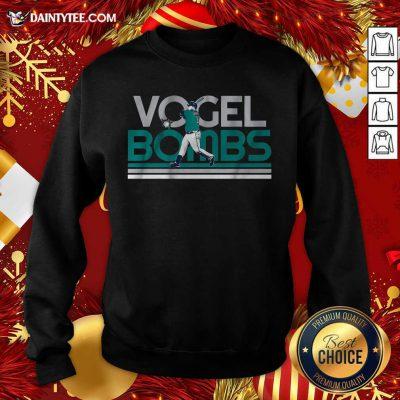Licensed Dan Vogelbach Vogel Bombs Sweatshirt- Design By Daintytee.com