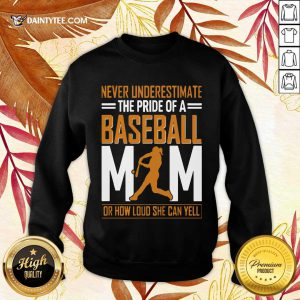 Mim De Baseball Quel Point Elle Peut Crier Fort Tata Sweatshirt- Design By Daintytee.com