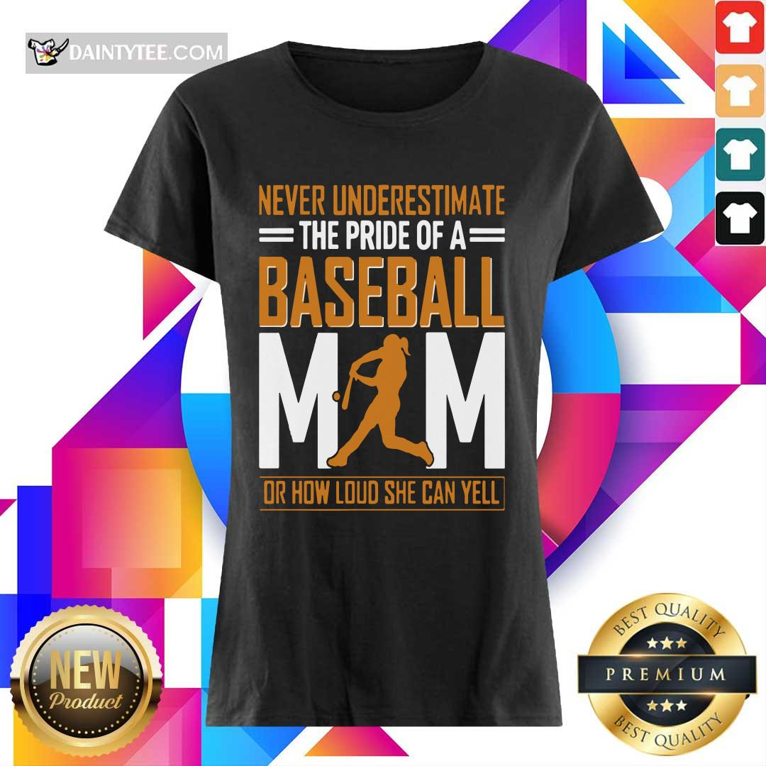 Mim De Baseball Quel Point Elle Peut Crier Fort Tata V-neck- Design By Daintytee.com