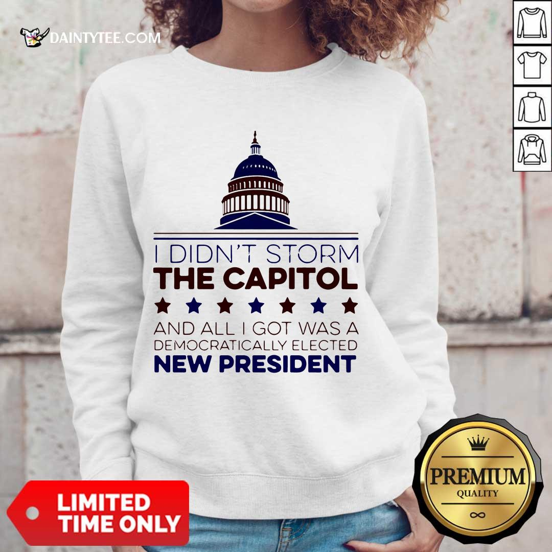 I Didnt Storm The Capitol And All I Got Was A Democratically Elected New President Tank Top- Design By Daintytee.com