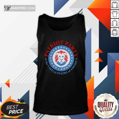 The Patriot Party Of The United States Of America 2021 Tank Top- Design By Daintytee.com