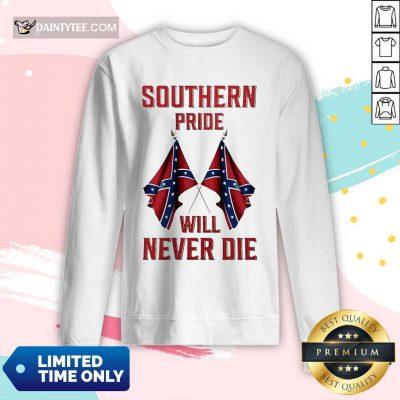 Southern Pride Will Never Die Flag US Tank Top- Design By Daintytee.com