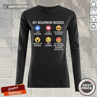 Awesome My Bourbon Moods Icon Long-sleeved