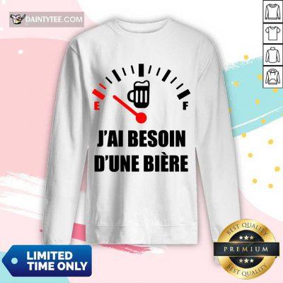 Hot J'Ai Besoin D'Une Bière Long-sleeved