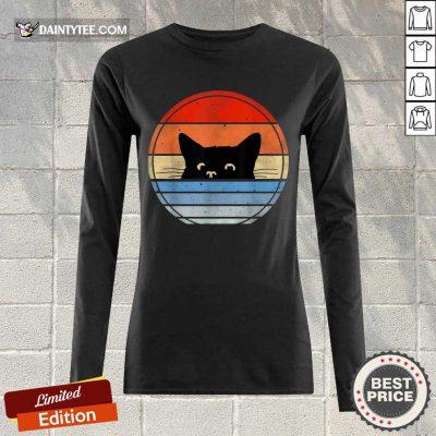 Nice Retro Black Cat Wonderful 5632 Long-sleeved