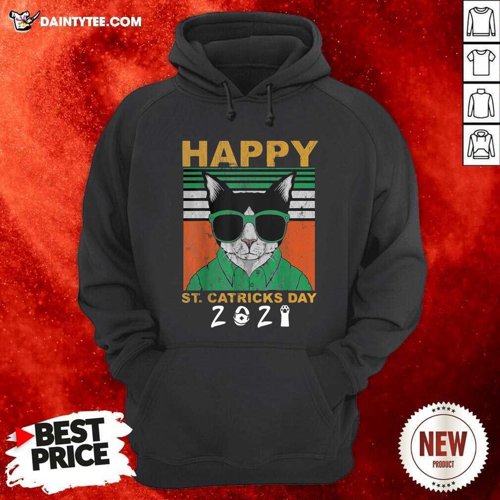 Happy St Catricks Day 2021 Patricks Day Vintage Hoodie- Design By Daintytee.com