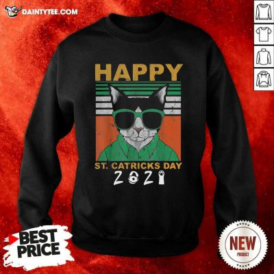 Happy St Catricks Day 2021 Patricks Day Vintage Sweatshirt- Design By Daintytee.com