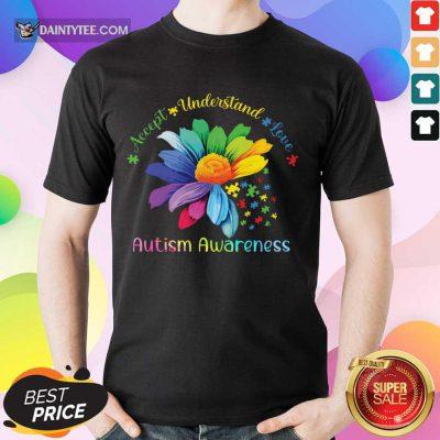 Top Accept Understand Love Autism Awareness Shirt