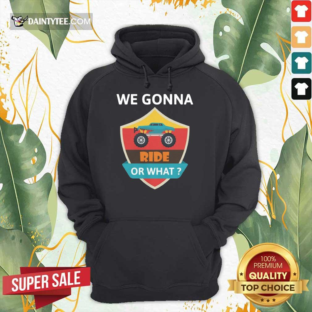 Awesome We Gonna Ride Or What Funny Off Road Hoodie