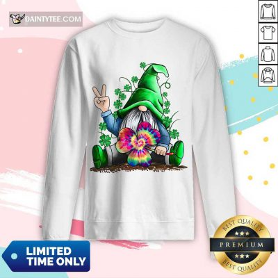 Happy St Patrick's Day Hippie Gnome Long-sleeved