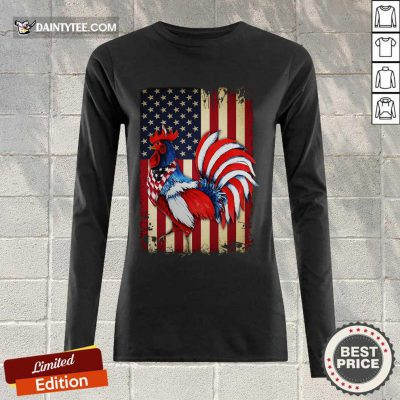 Original Chicken Flag American Long-sleeved