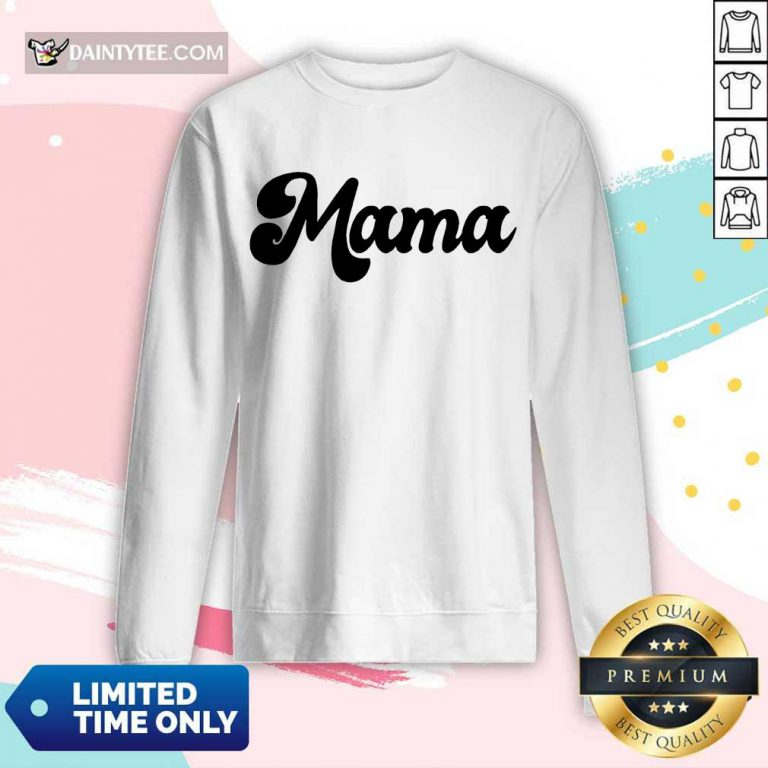 Perfect Retro Mama 2021 Long-sleeved