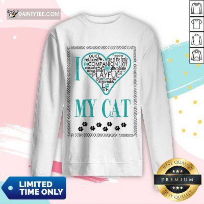 Premium I Love My Cat Long-sleeved