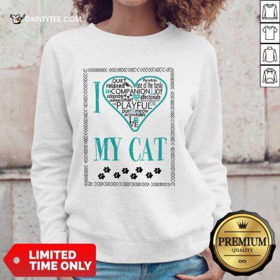 Premium I Love My Cat Sweater