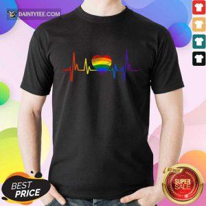 Premium LGBT Pride Heartbeat Shirt