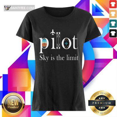 Premium Pilot Sky Is The Limit Ladies Tee