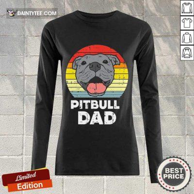 Premium Pitbull Dad Vintage Long-sleeved