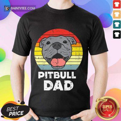 Premium Pitbull Dad Vintage Shirt