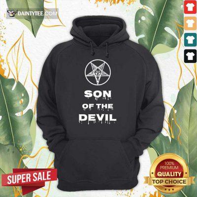 Top Inverted Pentagram Son Of The Devil Hoodie