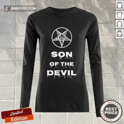 Top Inverted Pentagram Son Of The Devil Long-sleeved