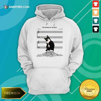 Cats And Music The Sound Of Silence Hoodie