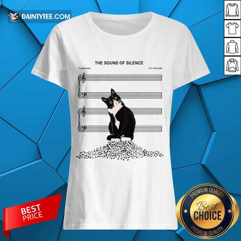 Cats And Music The Sound Of Silence Ladies Tee