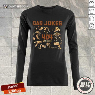 Dad Jokes 404 Not Found Long-sleeved