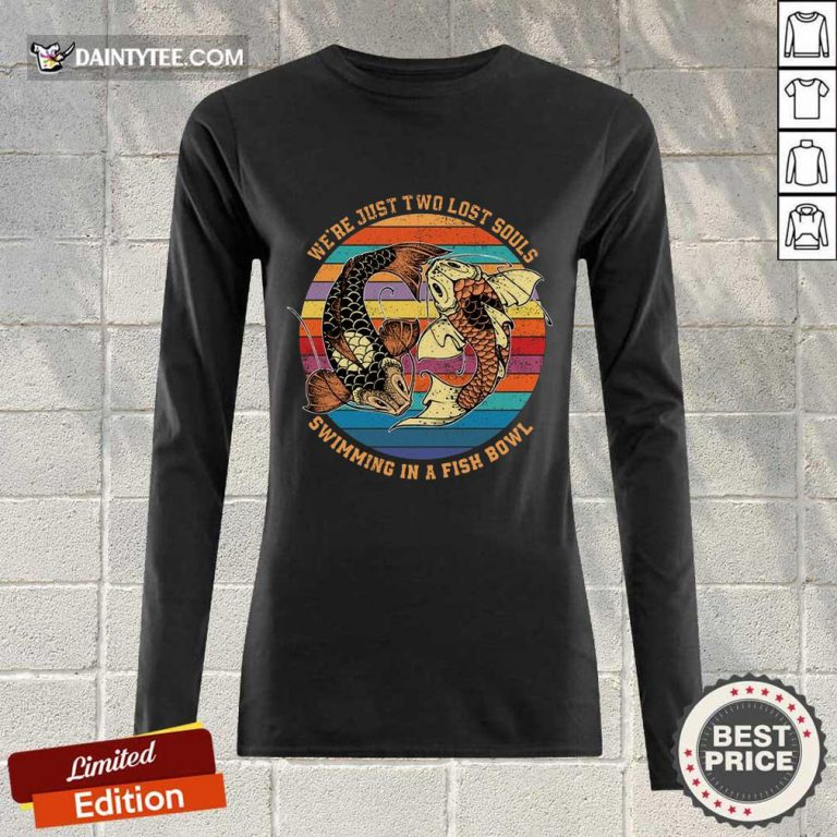 Souls Swimming In A Fish Bowl Vintage Long-sleeved