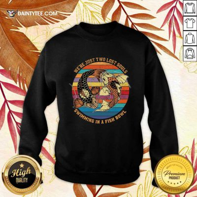 Souls Swimming In A Fish Bowl Vintage Sweater