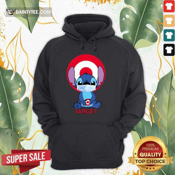 Baby Stitch Face Mask Hug Target Logo Hoodie