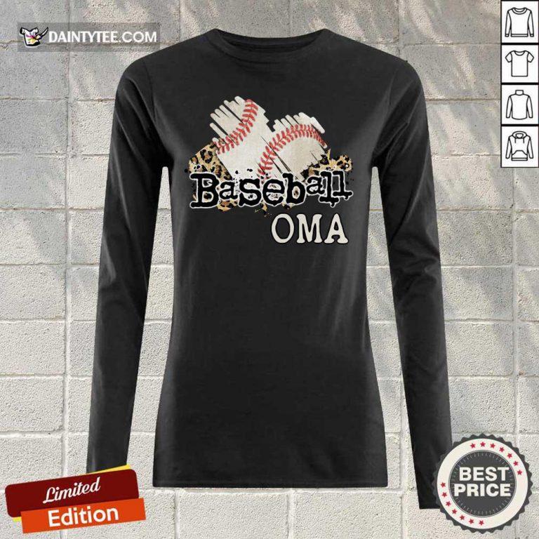 Baseball Oma Long-sleeved