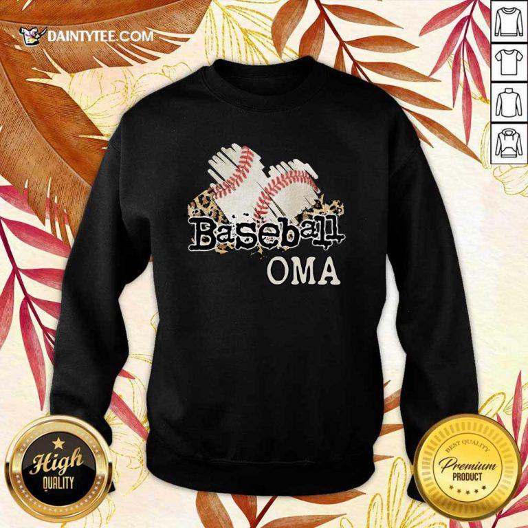 Baseball Oma Sweater