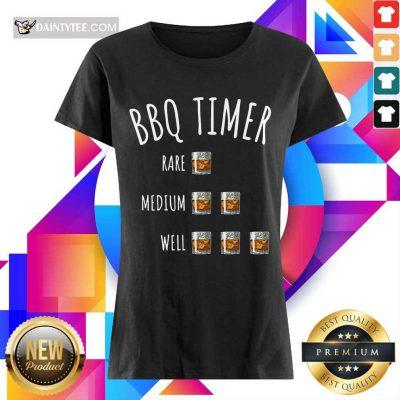 BBQ Timer Rare Medium Well Ladies Tee