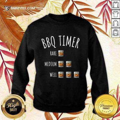 BBQ Timer Rare Medium Well Sweater