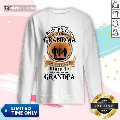 Best Friend Grandma And Grandpa Long-sleeved