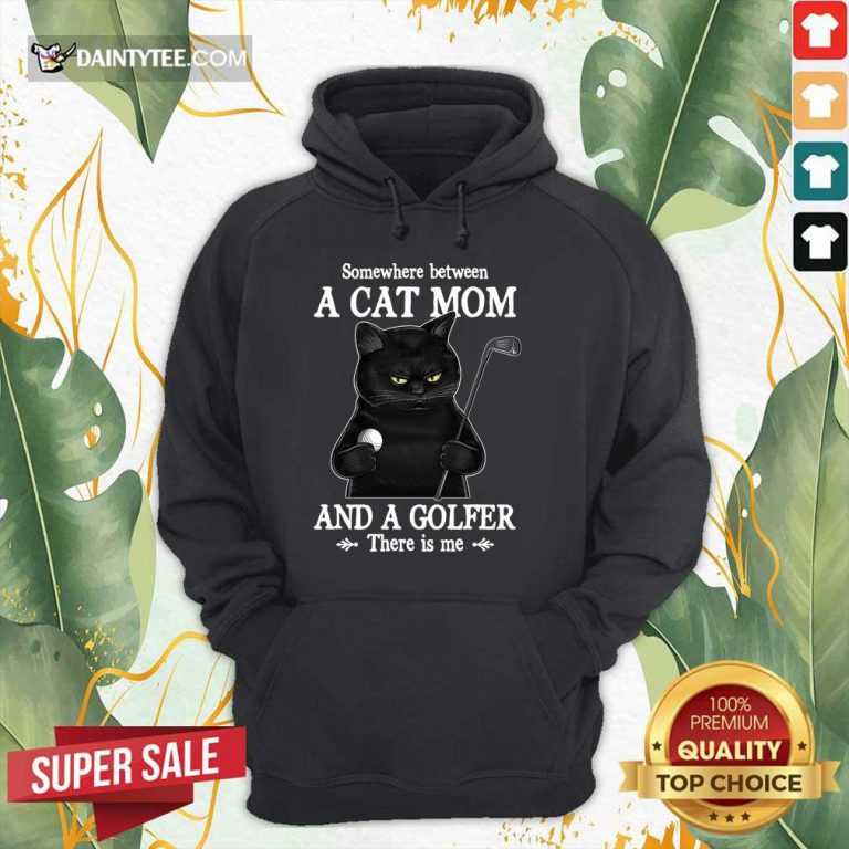 Black Cat Mom And A Golfer Hoodie