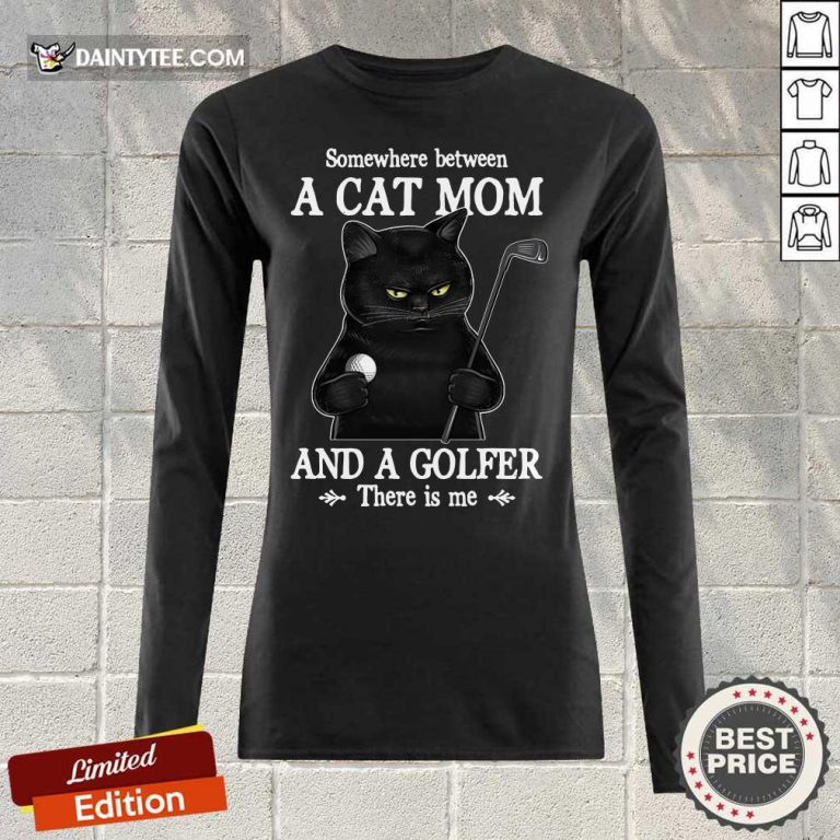 Black Cat Mom And A Golfer Long-sleeved