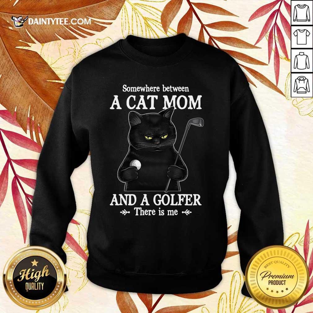 Black Cat Mom And A Golfer Sweater